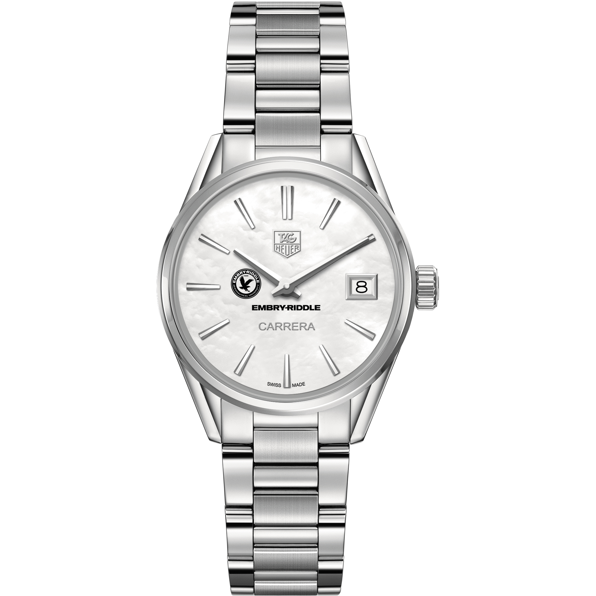 Embry-Riddle Women's TAG Heuer Steel Carrera with MOP Dial - Image 2