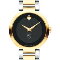 Emory University Women's Movado Two-Tone Modern Classic Museum with Bracelet