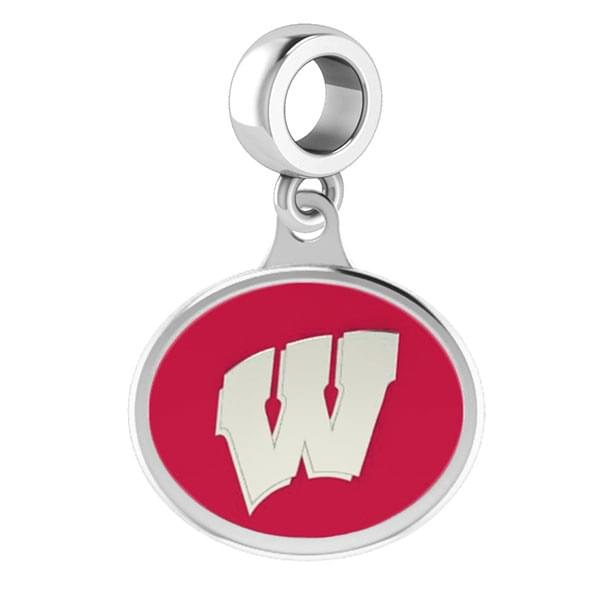 Wisconsin Round Enameled Drop Charm
