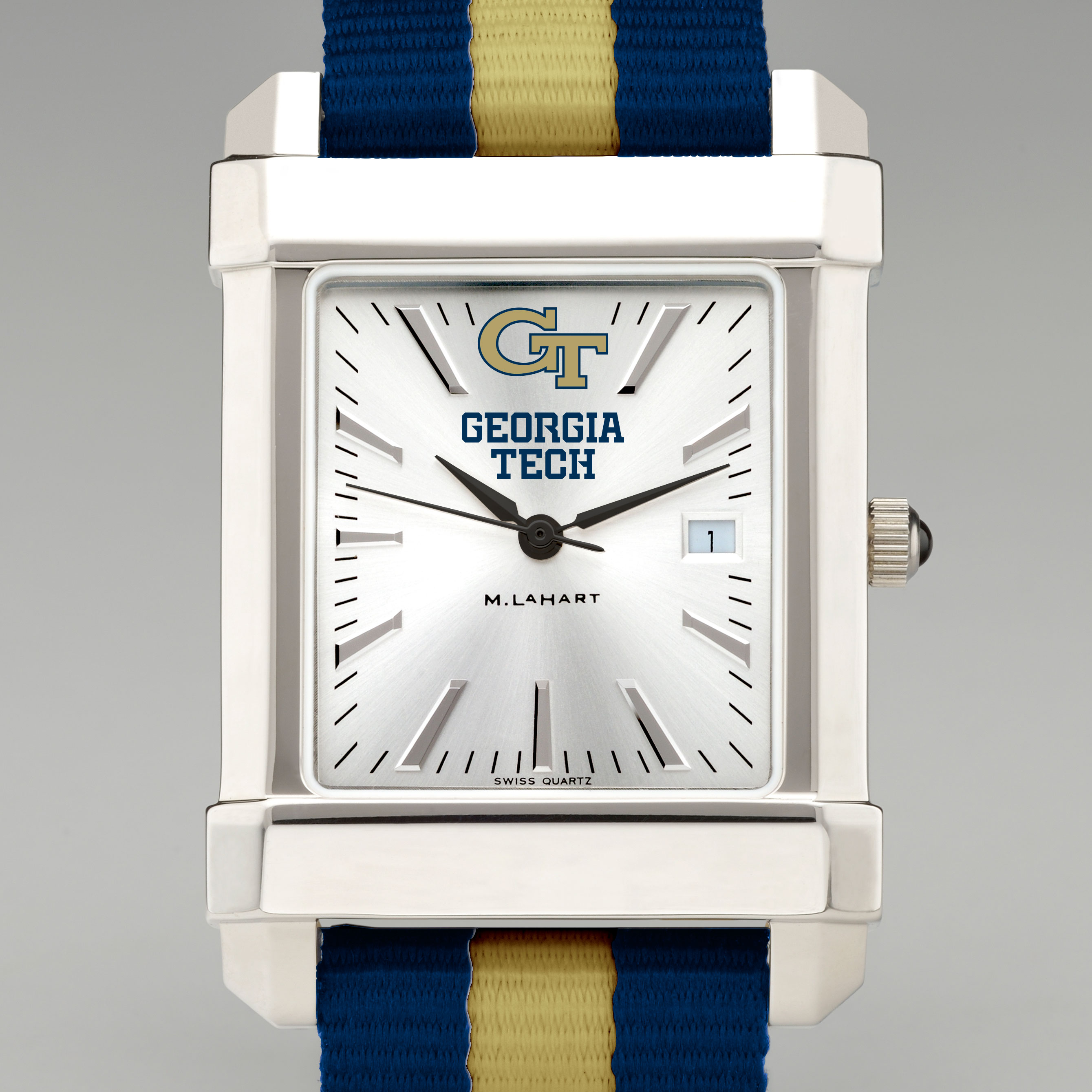 Georgia Tech Collegiate Watch with NATO Strap for Men - Image 1