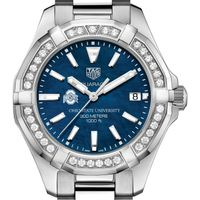 Ohio State Women's TAG Heuer 35mm Steel Aquaracer with Blue Dial