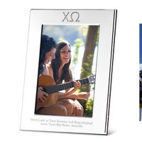 Chi Omega Polished Pewter 4x6 Picture Frame