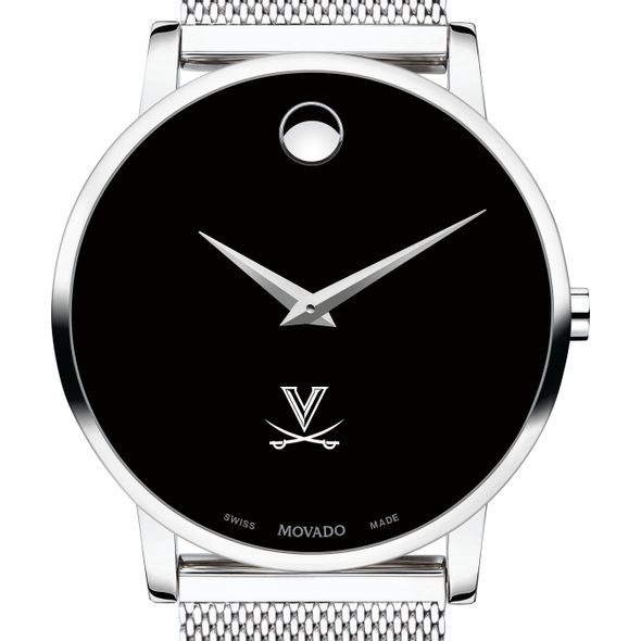 University of Virginia Men's Movado Museum with Mesh Bracelet - Image 1