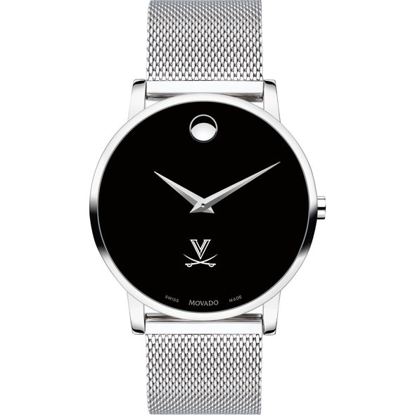 University of Virginia Men's Movado Museum with Mesh Bracelet - Image 2