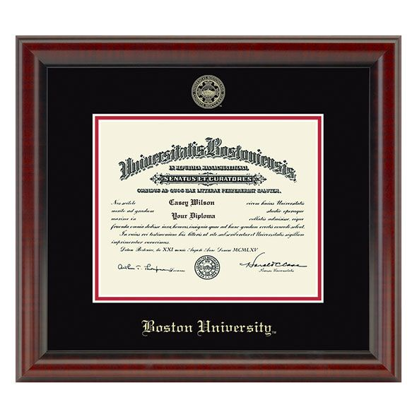 Boston University Diploma Frame, the Fidelitas