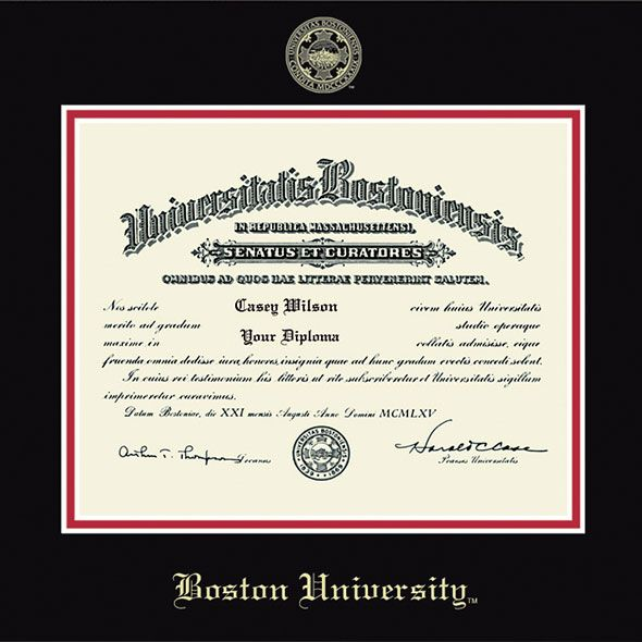 Boston University Diploma Frame, the Fidelitas - Image 2