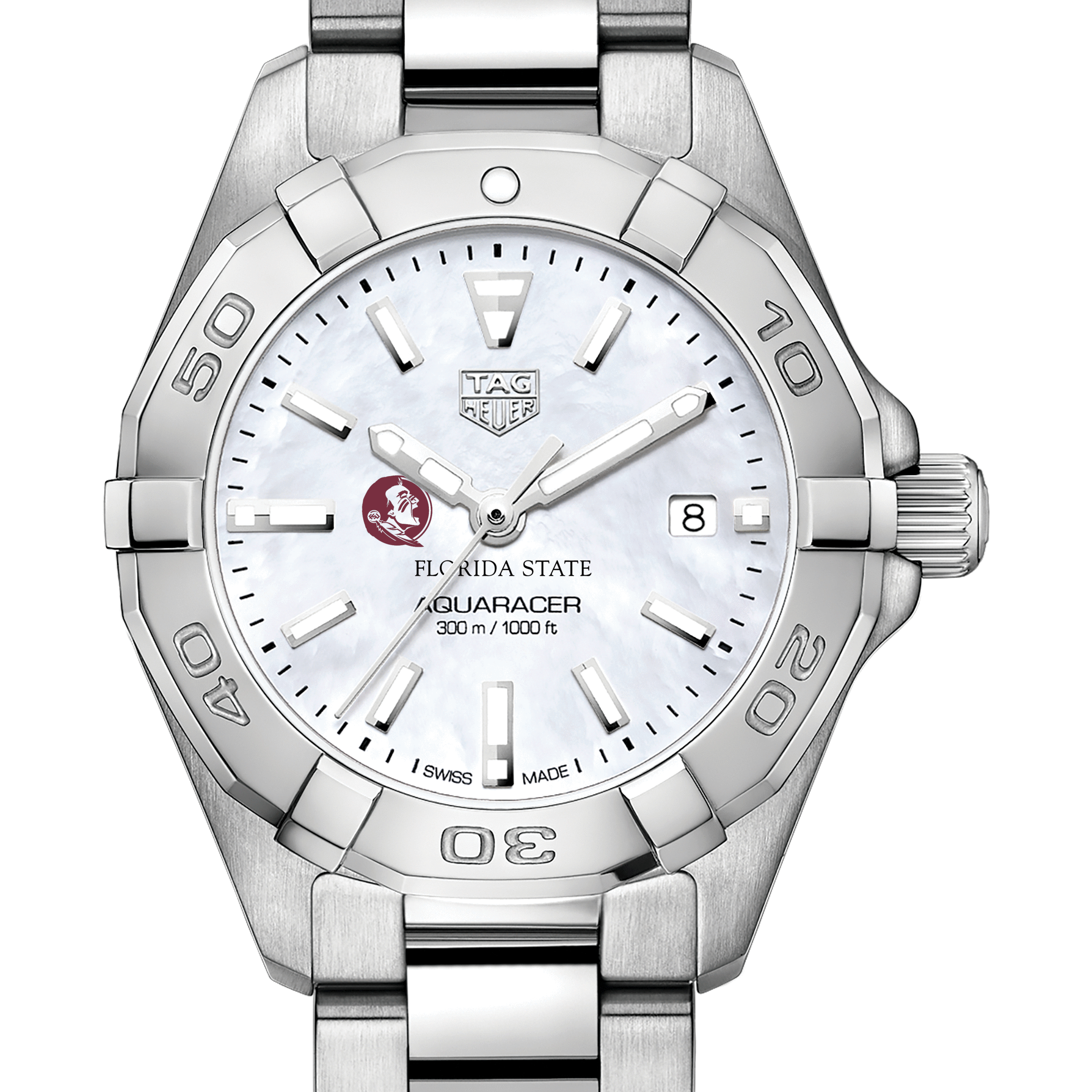 Florida State Women's TAG Heuer Steel Aquaracer with MOP Dial