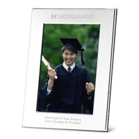 Michigan Ross Polished Pewter 5x7 Picture Frame