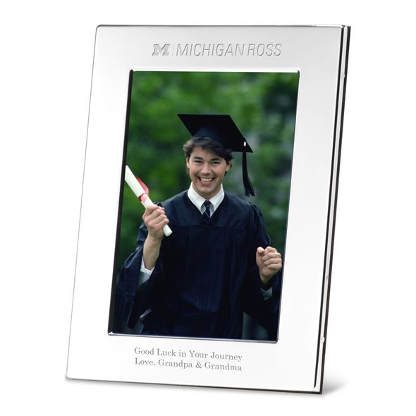Michigan Ross Polished Pewter 5x7 Picture Frame - Image 1