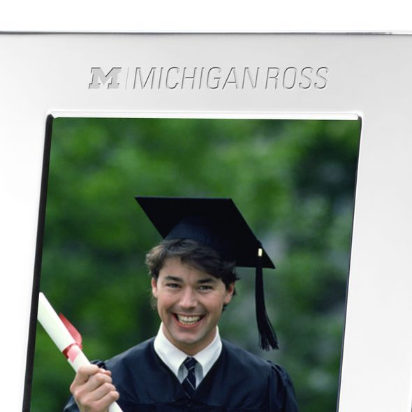 Michigan Ross Polished Pewter 5x7 Picture Frame - Image 2