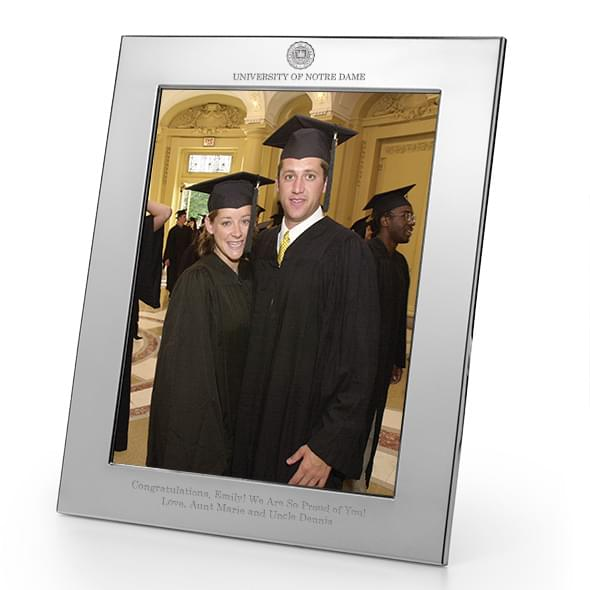 Notre Dame Pewter Frame (8X10)- Graduation Gift Selection at M ...