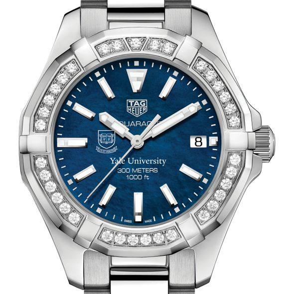 Yale Women's TAG Heuer 35mm Steel Aquaracer with Blue Dial