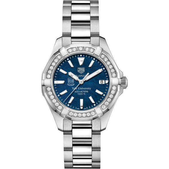 Yale Women's TAG Heuer 35mm Steel Aquaracer with Blue Dial - Image 2