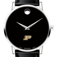Purdue University Men's Movado Museum with Leather Strap