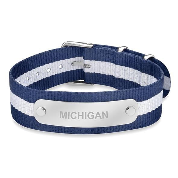 University of Michigan NATO ID Bracelet