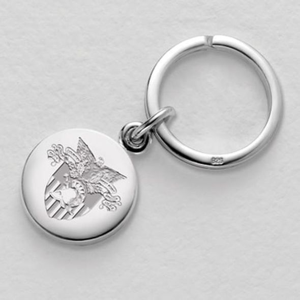 West Point Sterling Silver Insignia Key Ring - Image 1