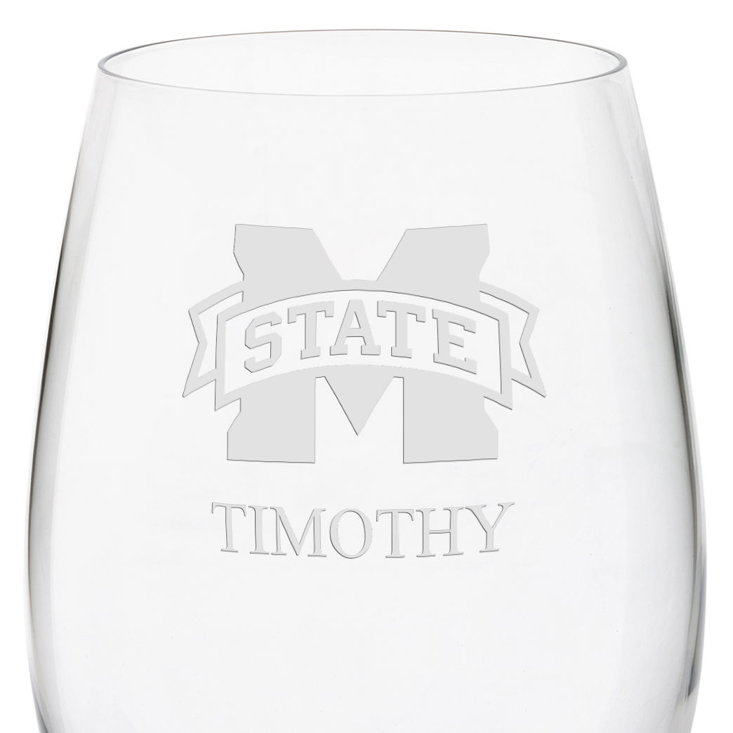 Mississippi State Red Wine Glasses - Set of 2 - Image 3