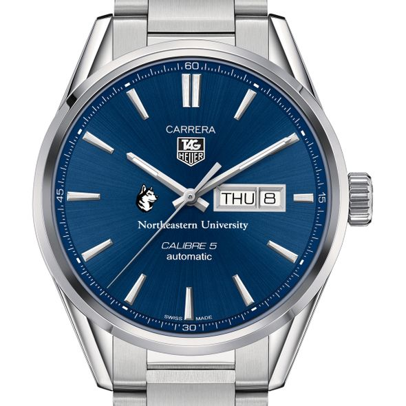 Northeastern Men's TAG Heuer Carrera with Day-Date - Image 1