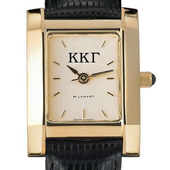 KKG Women's Gold Quad Watch with Leather Strap - Image 2