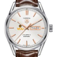 Virginia Commonwealth University Men's TAG Heuer Day/Date Carrera with Silver Dial & Strap