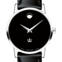 Columbia University Women's Movado Museum with Leather Strap