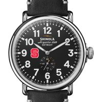 NC State Shinola Watch, The Runwell 47mm Black Dial