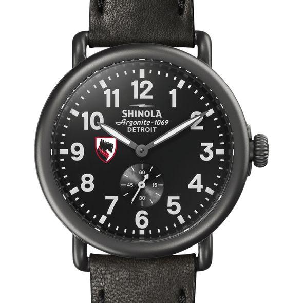 Carnegie Mellon Shinola Watch, The Runwell 41mm Black Dial