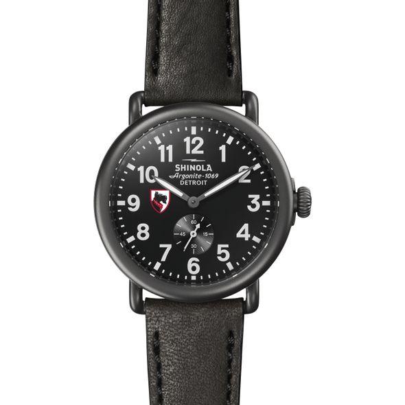 Carnegie Mellon Shinola Watch, The Runwell 41mm Black Dial - Image 2