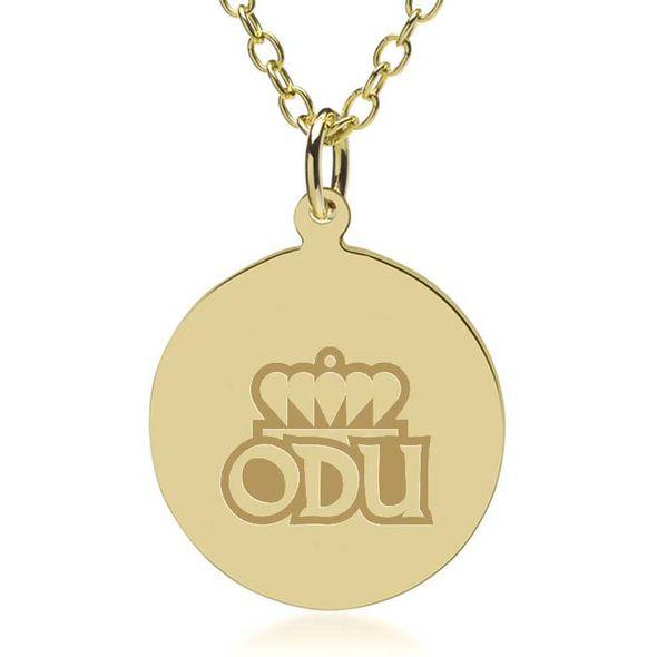 Old Dominion 18K Gold Pendant & Chain