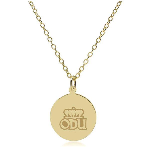 Old Dominion 18K Gold Pendant & Chain - Image 2