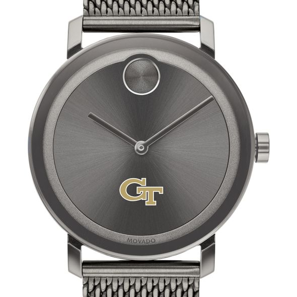 Georgia Tech Men's Movado BOLD Gunmetal Grey with Mesh Bracelet