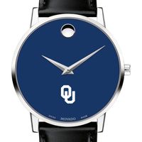 University of Oklahoma Men's Movado Museum with Blue Dial & Leather Strap