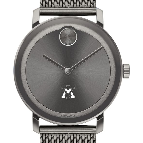 Virginia Military Institute Men's Movado BOLD Gunmetal Grey with Mesh Bracelet - Image 1