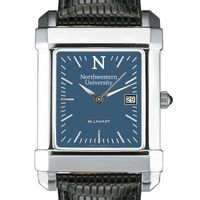 Northwestern Men's Blue Quad Watch with Leather Strap