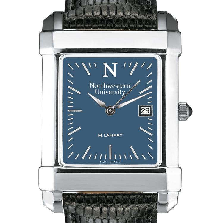 Northwestern Men's Blue Quad Watch with Leather Strap