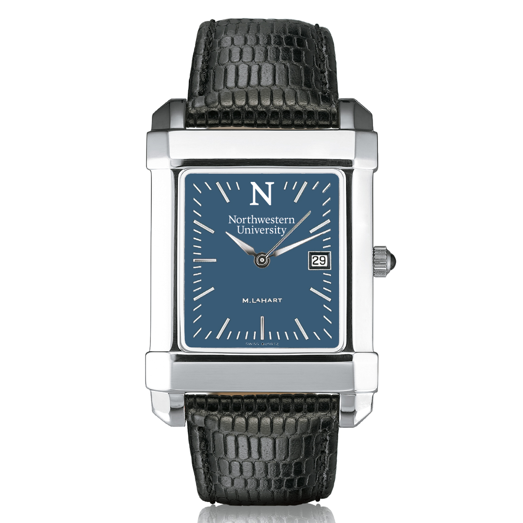 Northwestern Men's Blue Quad Watch with Leather Strap - Image 2