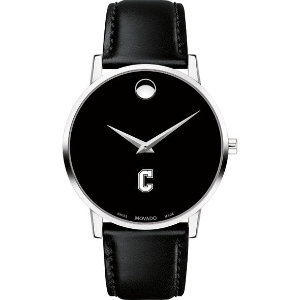 College of Charleston Men's Movado Museum with Leather Strap - Image 2