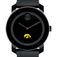 University of Iowa Men's Movado BOLD with Leather Strap