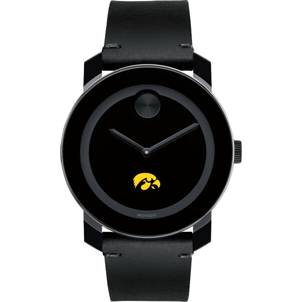 University of Iowa Men's Movado BOLD with Leather Strap - Image 2