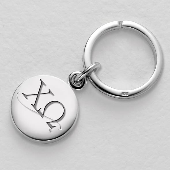 Chi Omega Sterling Silver Insignia Key Ring - Image 2