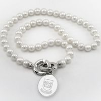 Yale Pearl Necklace with Sterling Silver Charm