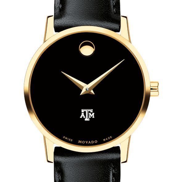 Texas A&M University Women's Movado Gold Museum Classic Leather