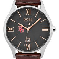 Boston University Men's BOSS Classic with Leather Strap from M.LaHart