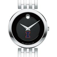 University of Illinois Women's Movado Esparanza Stainless Steel Museum with Bracelet