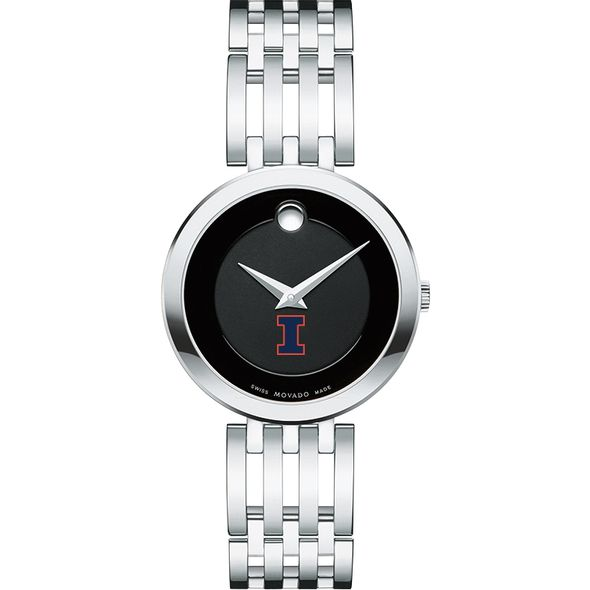 University of Illinois Women's Movado Esparanza Stainless Steel Museum with Bracelet - Image 2