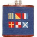 Nautical Flag Needlepoint Flask - Image 1