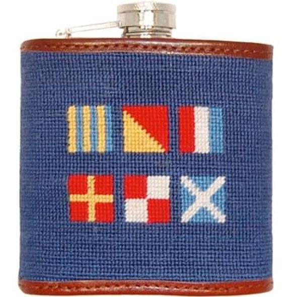 Nautical Flag Needlepoint Flask