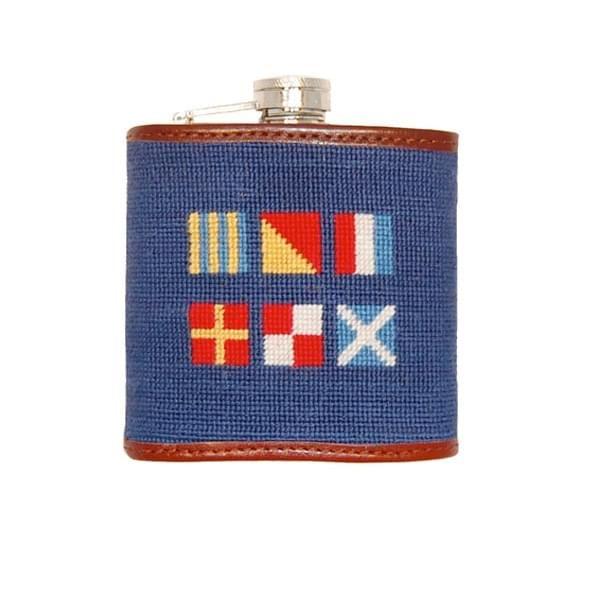 Nautical Flag Needlepoint Flask - Image 2