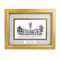 Boston College Black Ink Gold Frame