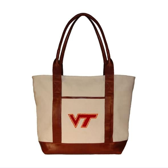Virginia Tech Needlepoint Tote